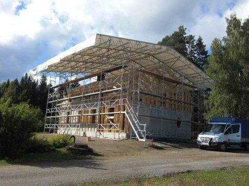 Byggnation av villa